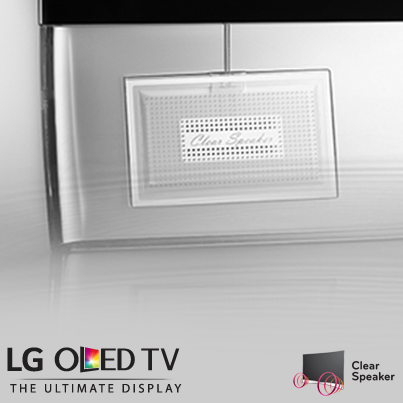 LG Curved OLED TV Clear Speakers