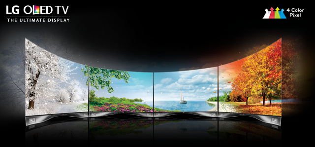 LG Curved OLED TV 4 Color Pixel