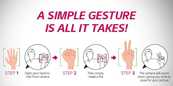 LG G3 Gesture Selfie