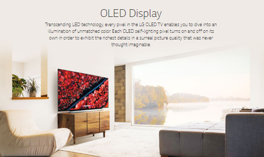LG OLED TV Features -SELF-LIGHTING PIXEL